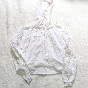 Free People Tropical Summer hooded top xs